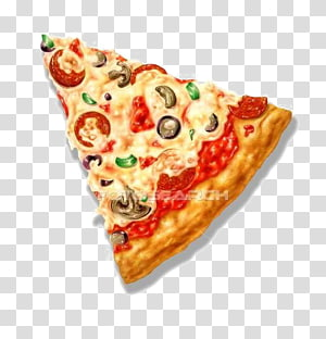 ilustrasi irisan pizza, Bentuk Pizza Segitiga, Pizza png