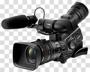 Video digital Kamera video profesional Camcorder Video definisi tinggi, kamera video, kamera video Canon HDV hitam png