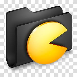pemegang file hitam, font kuning oranye, Game Folder Hitam png