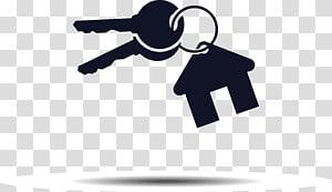 ilustrasi kunci rumah, Real Estat Logo Rumah Kunci, Kunci png