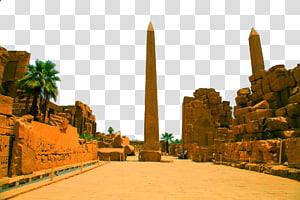 formasi batu coklat di bawah langit biru pada siang hari, Mesir, Mesir Landscape tujuh png