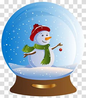 Grafis Santa Claus Snow Globes Hari Natal, santa claus PNG clipart
