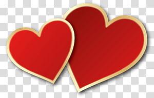 dua ilustrasi hati merah, Jantung Hari Valentine, Hati Hari Valentine png