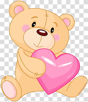 Teddy bear Giant panda, Cute Teddy with Pink Heart, ilustrasi brown teddy bear png