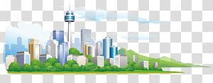 ilustrasi skyline kota, Ilustrasi Arsitektur, ilustrasi bangunan kota PNG clipart