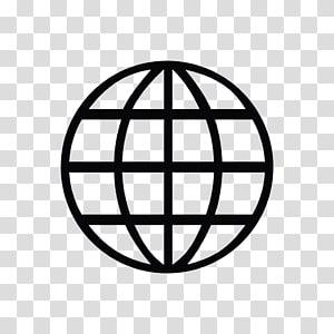 ilustrasi bulat hitam, Ikon Simbol World Wide Web, Simbol Web s png