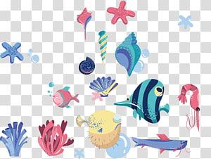 makhluk laut, Menggambar, ikan tropis png
