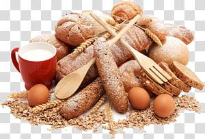 mug keramik merah dan roti, Bakery Karbohidrat Food Food Pastry, Semua jenis telur roti susu png