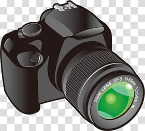 kamera DSLR hitam, Kamera film grafis, Kamera Kartun png