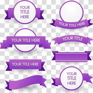 Pita ungu Euclidean, 8 materi pita ungu, banyak header ilustrasi kolase png