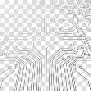 ilustrasi papan sirkuit, papan sirkuit cetak Sirkuit elektronik, Shading Teknologi Digital Elektronik png