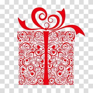 kotak hadiah bunga merah, kartu Hadiah Valentine, Quilling Gift shop, Hadiah png
