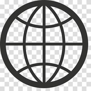 logo globe hitam, Ikon Komputer browser Web Desktop Grafik Terukur, Ikon Internet Situs Berkualitas Tinggi Gratis png