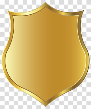 Lencana, Templat Lencana Emas, perisai emas PNG clipart