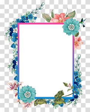 Perbatasan dan Bingkai Lukisan cat air, Tangan dicat perbatasan indah, ilustrasi bingkai bunga png