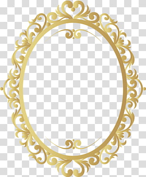 Takht Sri Patna Sahib Golden Temple Prakash Parv ke-350, Perbatasan pola retro emas, ilustrasi bingkai cermin oval krem png