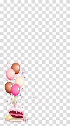 ilustrasi kue dan balon, Kartu ucapan & Kartu Ulang Tahun Selamat Ulang Tahun untuk Anda Wish, kue ulang tahun png