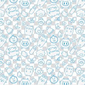 berbagai macam hewan, Bayi Anak, Bayi latar belakang biru mulus png