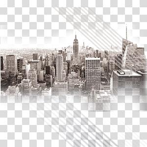 bangunan kota, Empire State Building Manhattan Skyline, kota PNG clipart