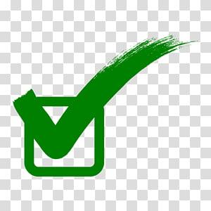 Tanda centang, tanda koreksi hijau, ikon centang dan kotak PNG clipart