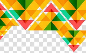 template latar belakang, segitiga berwarna-warni png