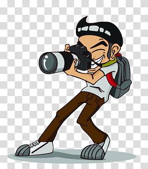pria memegang ilustrasi kamera DSLR, grapher, Ilustrasi grafik fokus pada pemotretan PNG clipart