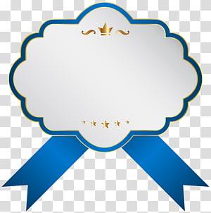 ilustrasi pita putih dan biru, Ikon Label, Label Putih Biru PNG clipart
