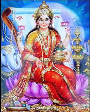Ilustrasi dewa Hindu, Radhe Maa Ganesha Lakshmi Devi Laxmi Pooja, Lakshmi png
