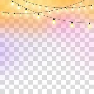 Pola Sudut Lantai Cahaya, Lampu malam, lampu senar yang dihidupkan png