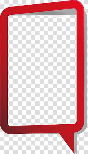 ilustrasi bingkai merah persegi panjang, Ikon, kotak dialog Rectangle png