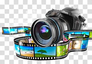 Kamera Monopod,, kamera DSLR hitam png