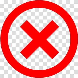 merah x ilustrasi, Ikon Komputer tanda X Tanda centang, merah x png