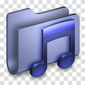 folder musik Ilustrasi digital 3D, font sudut ikon komputer, Music Blue Folder png
