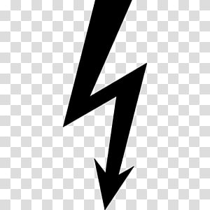 panah hitam, Petir Ikon Komputer Simbol Listrik, tegangan tinggi png