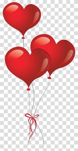 Balon Jantung, Balon Jantung, tiga balon hati merah png