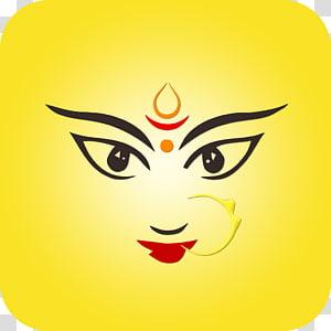 logo rias wajah, Gambar Durga Puja Devi, Durga Maa png