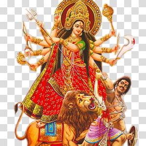 Ilustrasi dewa Hindu, Durga Puja Kali Navaratri Devi Mahatmya, Dussehra png