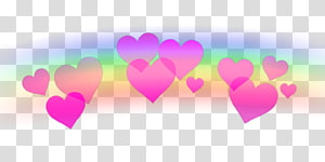 Hearts Sticker PicsArt Studio, Emoji Coração png