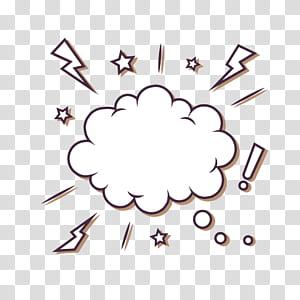 Bubble Euclidean Cloud Speech balon, Bintang gelembung teks awan petir, ilustrasi awan dialog png