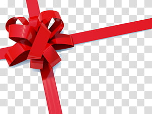 bungkus pita merah, Hadiah Pita Kertas Natal, Christmas Bow png