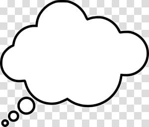 awan putih, balon Pidato Pikir, Thinking Cloud s PNG clipart