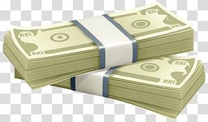 dua bundel ilustrasi uang kertas, Uang Mata Uang, Gumpalan Uang png