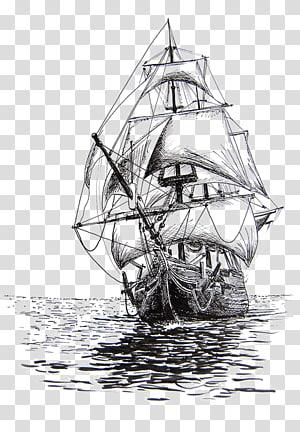 flagship, Menggambar Sketsa Pensil kapal layar, perahu layar png