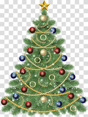 Pohon Natal Hari Natal, Pohon Natal Besar dengan Bintang, ilustrasi pohon Natal PNG clipart