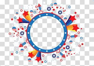 Ikon Circle Euclidean, Spanduk, bintang putih, merah, dan biru png