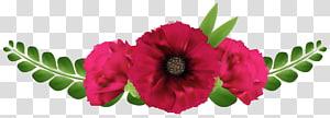 merah muda dan hijau bunga petaled, desain Bunga Garland Bunga, Bunga Merah Indah png