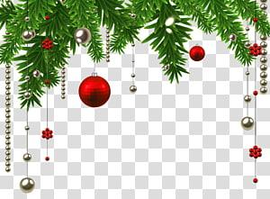 Dekorasi Natal Hiasan Natal Pohon Natal, Natal Hanging Ball Decoration, ilustrasi perhiasan merah dan perak PNG clipart