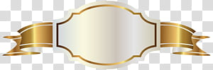Spanduk Emas, Label Putih dan Spanduk Emas, logo pita emas PNG clipart