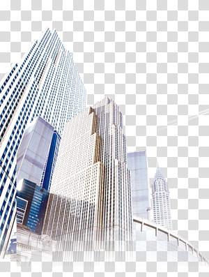 Arsitektur Gedung Pencakar Langit Gedung bertingkat tinggi, Bangunan kota bertingkat tinggi, gedung beton putih pada siang hari PNG clipart