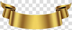 Spanduk, Spanduk Emas, seni grafis pita emas PNG clipart